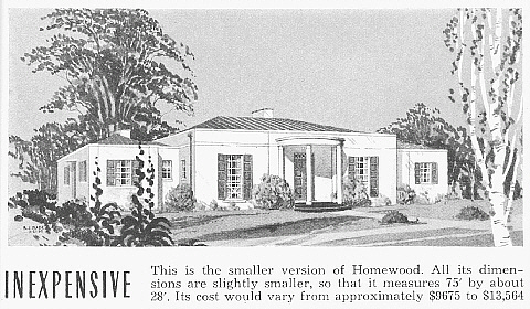 In 1939 Good Housekeeping Offered Plans For Three Versions Of Homewood House Including This Inexpensive One
