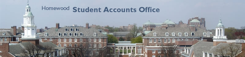 Homewood Student Accounts Office: Lower Quad aerial view